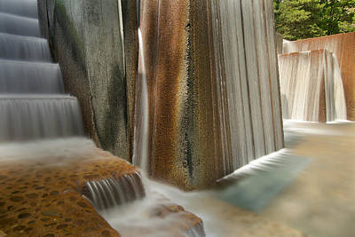 Public Park Water Fountain With Stair Steps Art Print by JPLDesigns