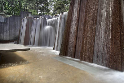 Public Parks Water Fountain Art Print by JPLDesigns