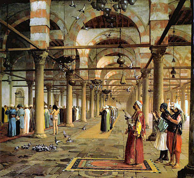 Public Prayer In The Mosque  Art Print by Jean Leon Gerome