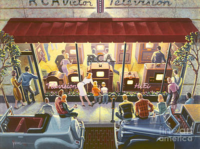 Public Television Art Print by Michael Young