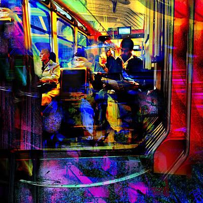 Pop Art Photograph - Public Transport by Barbs Popart