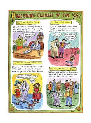 Publishing Drawing - Publishing Clauses Of The '90s by Roz Chast