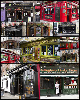 Irish Photograph - Pubs Of Dublin by David Smith