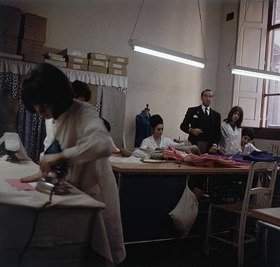 Pucci In A Workroom Art Print by Horst P. Horst