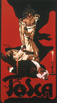 Tosca Painting - Puccini Tosca Poster, 1900 by Granger