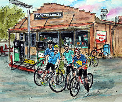 Pucketts Painting - Puckett's Peddlars by Tim Ross