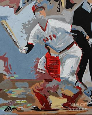 Painting - Pudge  Carlton Fisk by Steven Dopka