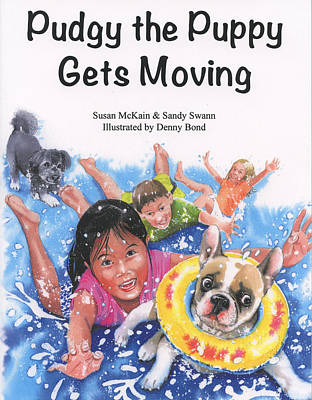 Jogging Painting - Pudgy The Puppy Gets Moving by Denny Bond