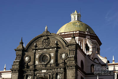 Photograph - Puebla Cathedral Dome Mexico by John  Mitchell