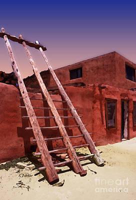 Impressionism Digital Art - Pueblo Adobe by Linda  Parker