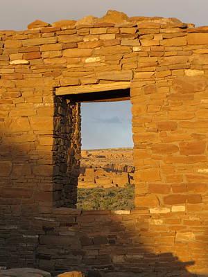Chaco Culture Nhp Photograph - Pueblo Bonito Through A Doorway by Feva  Fotos