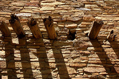 Masonry Photograph - Pueblo Bonito Wall by Joe Kozlowski