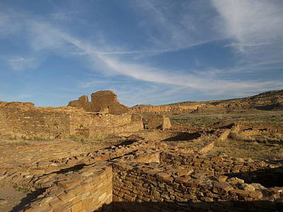 Pueblo Bonito Walls And Rooms Art Print