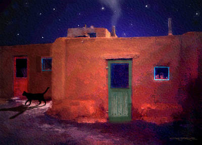Pueblo Cat Art Print