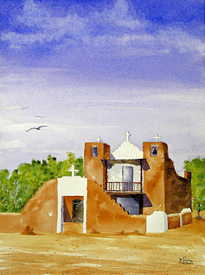 Painting - Pueblo Church Taos New Mexico by Rich Stedman