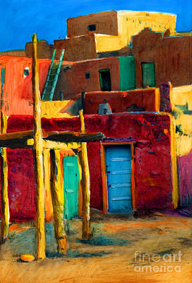 Painting - Pueblo City 2 by Cindy McIntyre