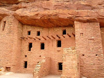 Pueblo Cliff Dwellings Art Print by Tony Crehan