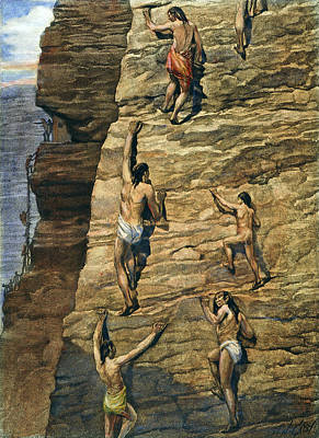Loincloth Painting - Pueblo Native Americans by Granger