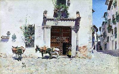 Alleyway Painting - Puerta De Una Casa En Toledo by Pg Reproductions