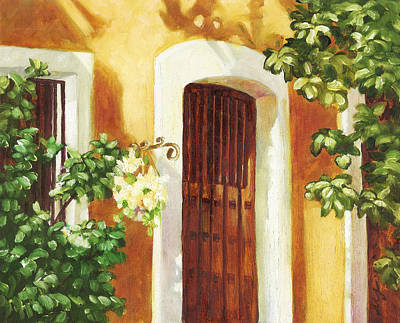 Puerto Rico Painting - Puerta Del Sol by Monica Linville