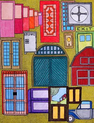 Puertas Art Print