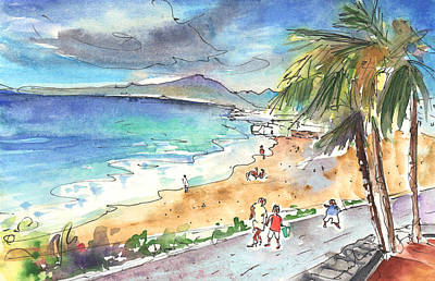 Painting - Puerto Carmen Beach by Miki De Goodaboom