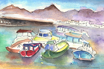 Painting - Puerto Carmen Harbour 02 by Miki De Goodaboom