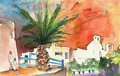 Day Of The Dead Inspired Paintings - Puerto Carmen Sunset in Lanzarote by Miki De Goodaboom