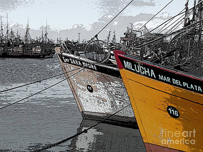 Ghost Digital Art - Puerto De Mar Del Plata by Gustavo Mazzoni