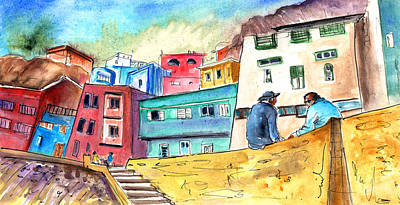 Canary Drawing - Puerto De Sardina 02 by Miki De Goodaboom