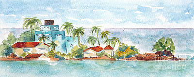 Painting - Puerto Limon Point by Pat Katz