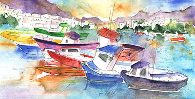 Painting - Puerto Mogan 02 by Miki De Goodaboom