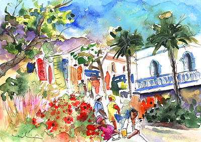 Painting - Puerto Mogan 10 by Miki De Goodaboom