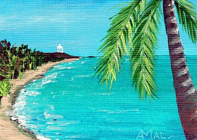 Affordable Painting - Puerto Plata Beach  by Anastasiya Malakhova