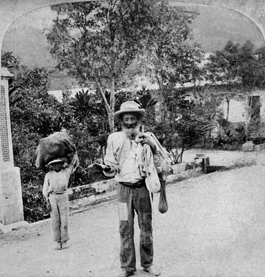 Rican Painting - Puerto Rico Beggar, C1900 by Granger