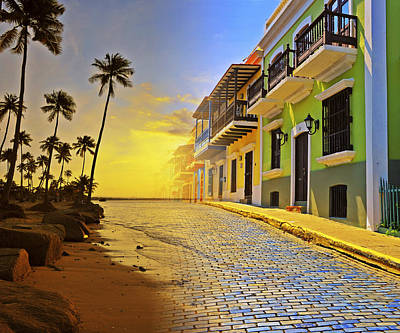 Puerto Rico Collage 2 Art Print by Stephen Anderson