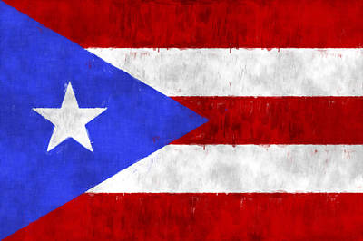 Puerto Rico Digital Art - Puerto Rico Flag by World Art Prints And Designs