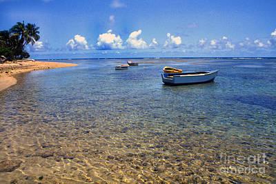 Puerto Rico Luquillo Beach Fishing Boats Art Print by Thomas R Fletcher
