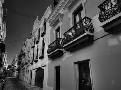 Photograph - Puerto Rico - Old San Juan 003 Bw by Lance Vaughn