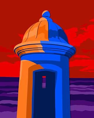 Puerto Rico Digital Art - Puerto Rico Turret by John Berndt