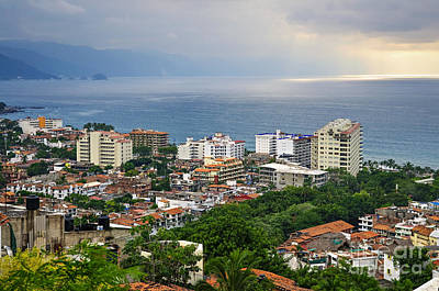 Photograph - Puerto Vallarta And Pacific Ocean by Elena Elisseeva