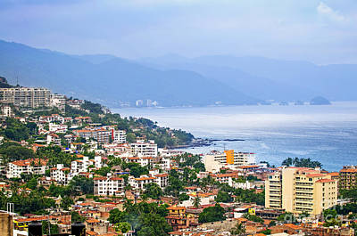 Puerto Photograph - Puerto Vallarta On Mexican Coast by Elena Elisseeva