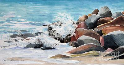 Puerto Vallarta Rocks Art Print by Joan Hartenstein