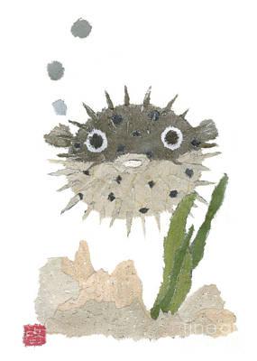 Painting - Blowfish Art by Keiko Suzuki
