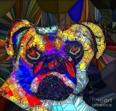 Painting - Dog Pug 1 by Saundra Myles
