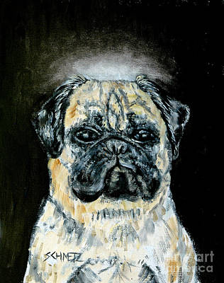 Painting - Pug Angel by Jay  Schmetz