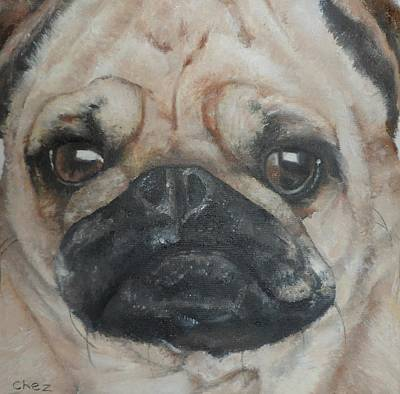 Painting - PuG by Cherise Foster