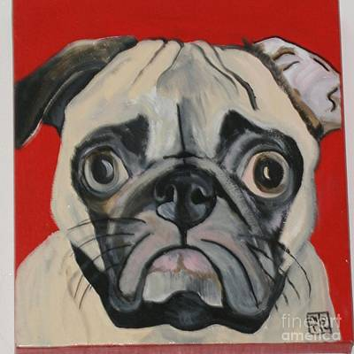 Pug Face Painting - Pug Face by Meredith Brooks