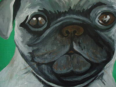 Pug Face Painting - PUG by Leslie Manley