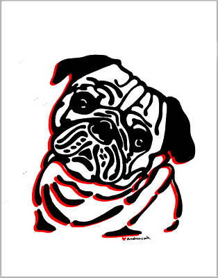 Pug Love Original by Andrea Cook